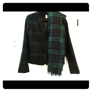 Gap black/Green watch plaid blazer